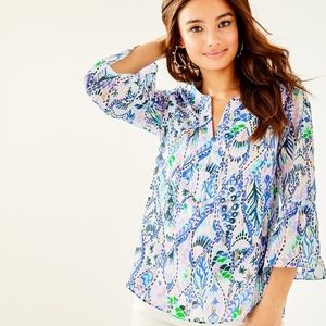 NWT Lilly Pulitzer Elenor's Silk Top